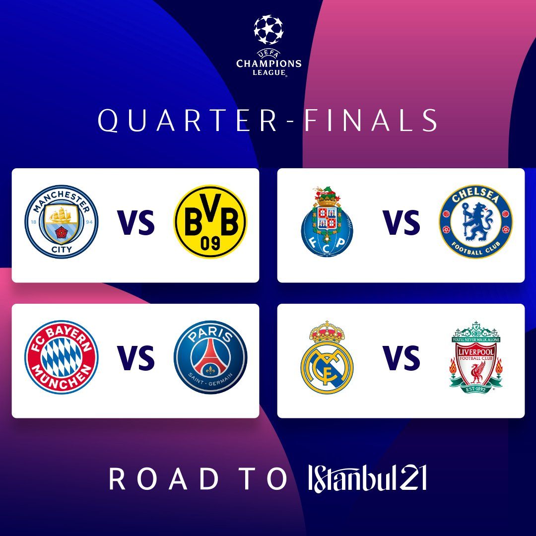 When Is The Champions League Draw Quarter Finals 2021 ...